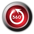 360-glasbutton