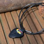 leather necklace with pick holder