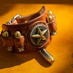 bracelet with bullets and star concho western style