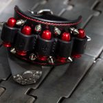 Heavy Metal Bracelet - Red Bullets - KB Leather Works trussindustry.de