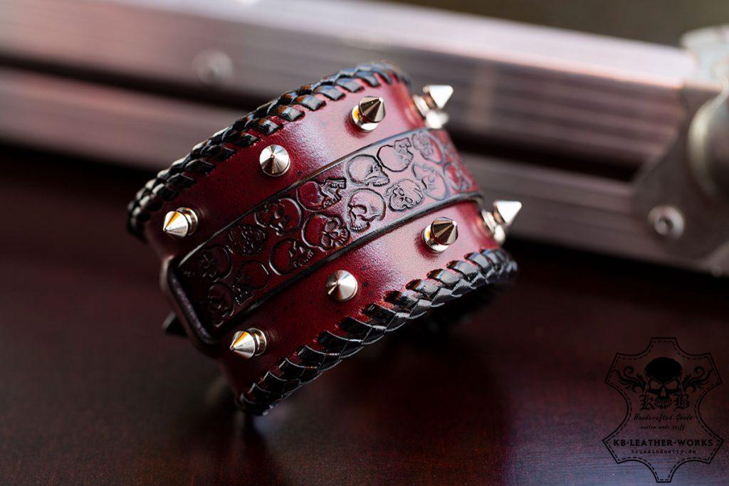 Heavy Metal Bracelet - rivets - KB Leather Works trussindustry.de