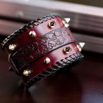 Heavy Metal Bracelet - rivets - KB Leather Works trussindustry.de