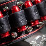 Heavy Metal Bracelet - Red Bullets - KB Leather Works trussindustry.de