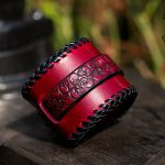 Red skull Bracelet - KB Leather Works - trussindustry.de