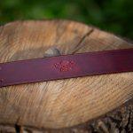 Burgunder Leather bracelet with logo